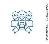 membership line icon concept.... | Shutterstock .eps vector #1356231908