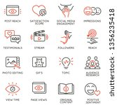vector set of linear icons... | Shutterstock .eps vector #1356235418