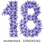 numeral  18  eighteen  from... | Shutterstock . vector #1356242162