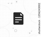 document  file  vector best... | Shutterstock .eps vector #1356243002