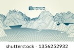 abstract wireframe background.... | Shutterstock .eps vector #1356252932