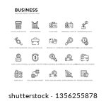 set of 20 line icons such as... | Shutterstock .eps vector #1356255878