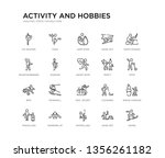 set of 20 line icons such as... | Shutterstock .eps vector #1356261182