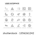 set of 20 line icons such as 3d ... | Shutterstock .eps vector #1356261242