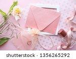 wedding card design. bouquet of ...   Shutterstock . vector #1356265292