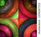 abstract grunge circles... | Shutterstock . vector #1356267212