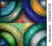 abstract grunge circles... | Shutterstock . vector #1356267218