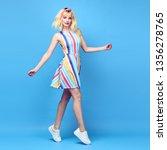 full length photo of hipster... | Shutterstock . vector #1356278765