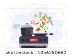 food cooking preparing culinary ... | Shutterstock .eps vector #1356280682