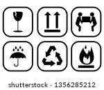 packaging symbols vector for... | Shutterstock .eps vector #1356285212