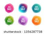 blur shapes. huge sale. special ... | Shutterstock .eps vector #1356287738