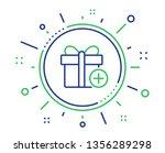 add gift box line icon. present ... | Shutterstock .eps vector #1356289298