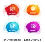 liquid badges. set of report... | Shutterstock .eps vector #1356290435
