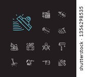 instrument icons set. masons...