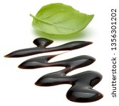 balsamic vinegar cream and... | Shutterstock . vector #1356301202