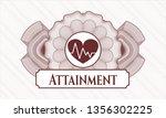 red passport money rosette with ... | Shutterstock .eps vector #1356302225