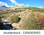 scenic hill country on corsica... | Shutterstock . vector #1356303092