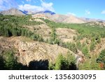 scenic hill country on corsica... | Shutterstock . vector #1356303095