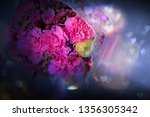 bride's bouquet and empty space ... | Shutterstock . vector #1356305342
