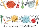 background with utensils and... | Shutterstock .eps vector #1356307652