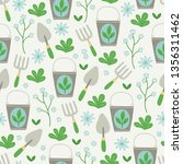 gardening seamless pattern with ... | Shutterstock .eps vector #1356311462
