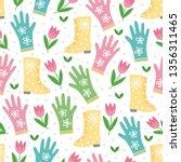 gardening seamless pattern with ... | Shutterstock .eps vector #1356311465