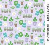gardening seamless pattern with ... | Shutterstock .eps vector #1356311468