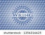 wring blue emblem or badge with ... | Shutterstock .eps vector #1356316625