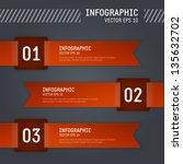modern info graphic vector... | Shutterstock .eps vector #135632702
