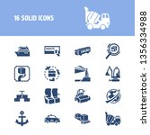 vehicle icon set and digger...