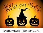 halloween party poster  banner... | Shutterstock . vector #1356347678