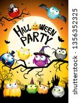 halloween party poster  banner  ... | Shutterstock . vector #1356352325