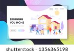 bringing home landing page.... | Shutterstock .eps vector #1356365198