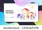 bringing home landing page.... | Shutterstock .eps vector #1356365198