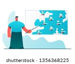weather reporter. stylized...   Shutterstock .eps vector #1356368225