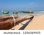 traditional thai boats near the ... | Shutterstock . vector #1356369455