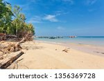 beautiful tropical beach with ... | Shutterstock . vector #1356369728