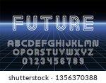 vector designer futuristic font ... | Shutterstock .eps vector #1356370388