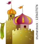 vector illustration of a castle | Shutterstock .eps vector #135637076