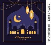 ramadan kareem holiday... | Shutterstock .eps vector #1356371282