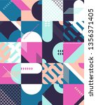abstract multicolored patten of ...   Shutterstock .eps vector #1356371405