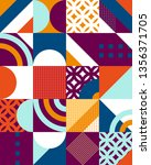 abstract geometric patten of...   Shutterstock .eps vector #1356371705