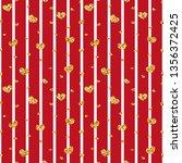 gold heart seamless pattern.... | Shutterstock . vector #1356372425