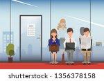 hiring job interview business... | Shutterstock .eps vector #1356378158