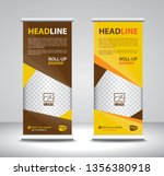 roll up banner template vector  ...   Shutterstock .eps vector #1356380918