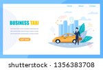business taxi landing page. man ... | Shutterstock .eps vector #1356383708