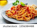 tasty appetizing pasta... | Shutterstock . vector #1356384488