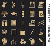 academic degree icons set.... | Shutterstock .eps vector #1356388532