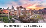 Panoramic View Of Ancient Ruin...