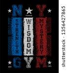 vintage new york gym tee shirt... | Shutterstock .eps vector #1356427865